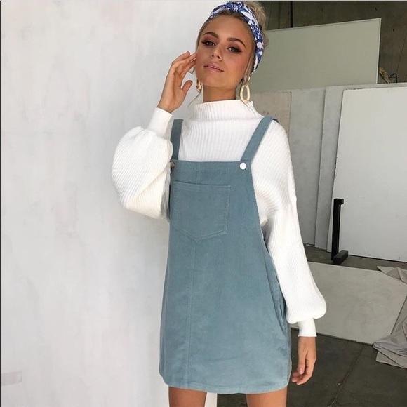 42ee018cef HOST PICK Corduroy Overall Dress w Bib Pocket